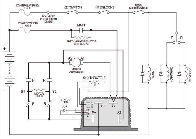 Curtis Dc Motor Controller For E Rickshaw(model: 1204m