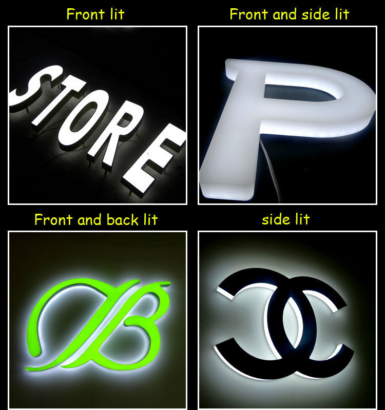 Custom Lighted Up Pharmacy Sign 3d Front Lit Acrylic Letters Led ...