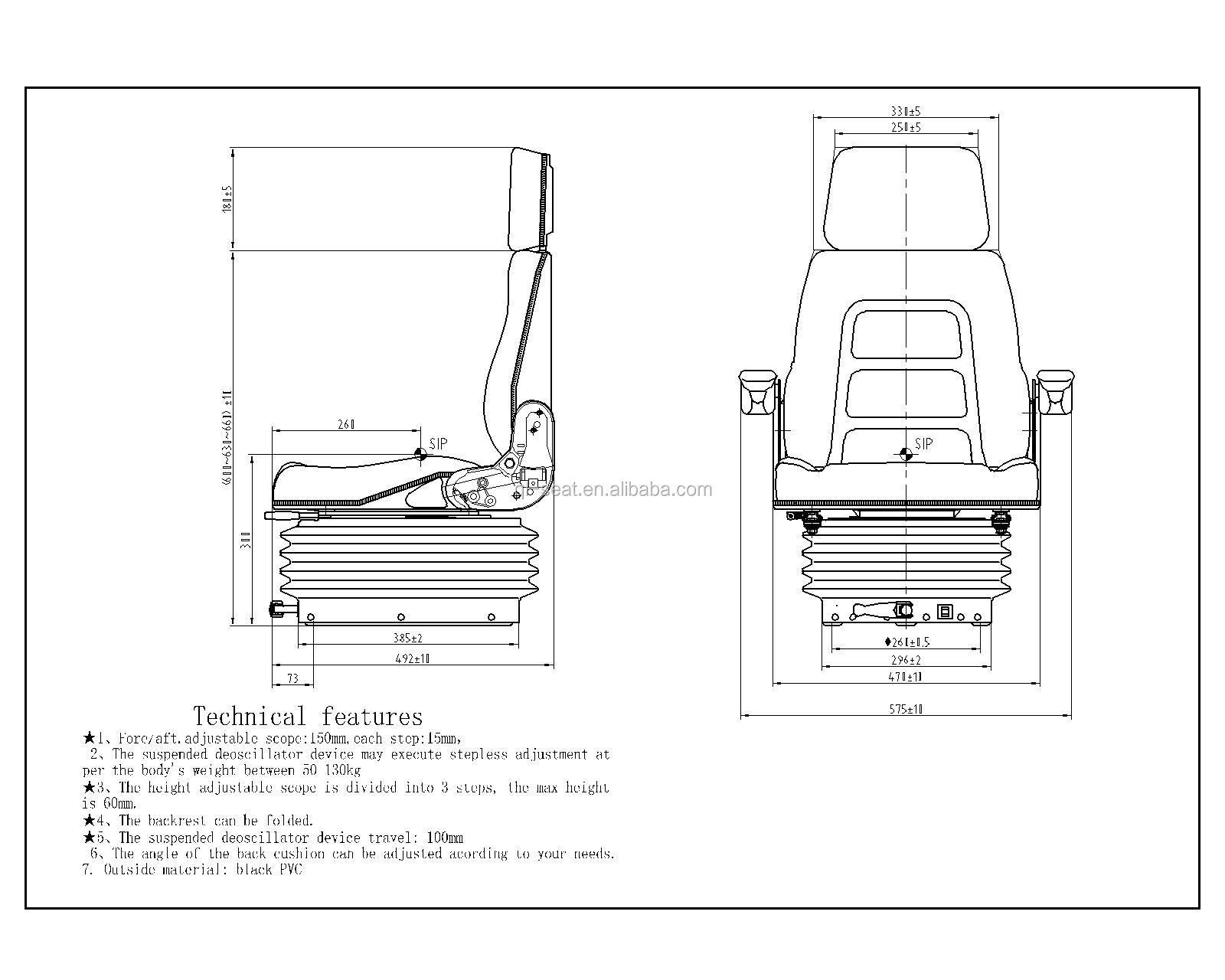 Customize Universal Hitachi Excavator Seat Used Mini