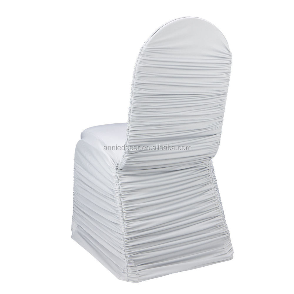 Cheap White Ruched Spandex Chair Coverwhite Wedding Chair