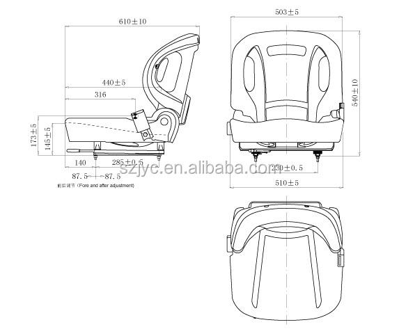 Toyota Forklift /nichiyu Forklift Spare Parts Seat Pvc Yh