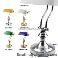 Gs/ce/rohs Certificate Silver Solid Brass Banker Lamp ...