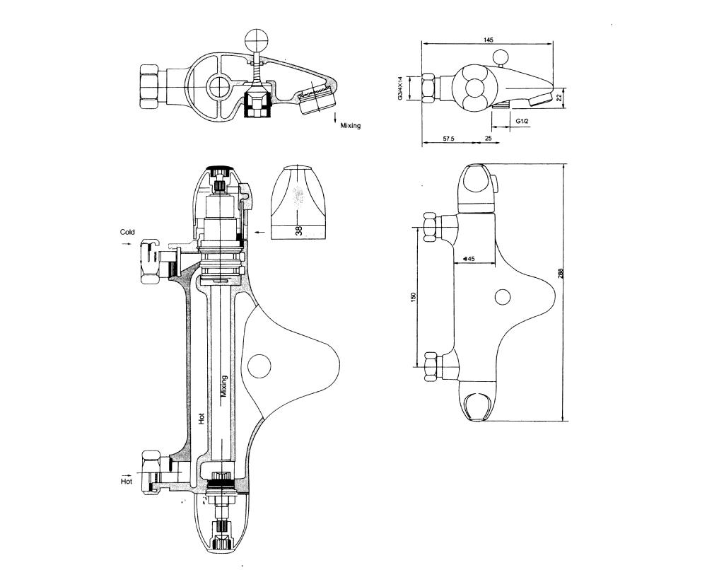 Ql-01tf Bath Thermostatic Faucet,Control Temperture Bath