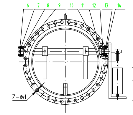 Slanting Disc Check Valve With Counterweight And Hydraulic