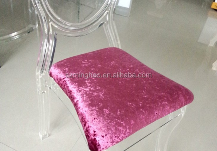 Clear Chair With Cushion