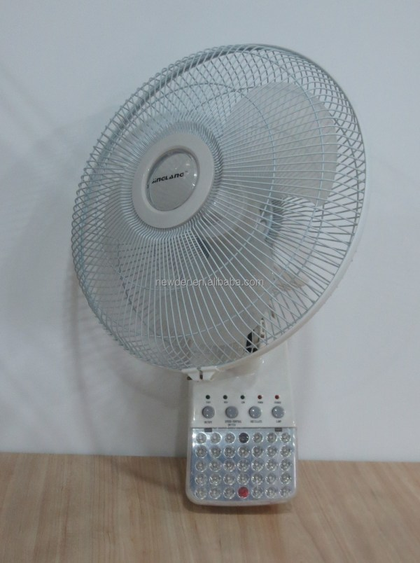 Rechargeable Emergency Wall Mounted Fan With Led Light