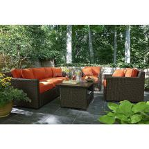 Outdoors Patio Furniture Orange Sectional Set