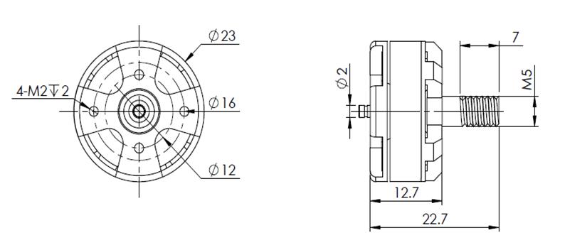 St 1804 Brushless Dc Motor 1600kv/2480kv Outrunner Rc