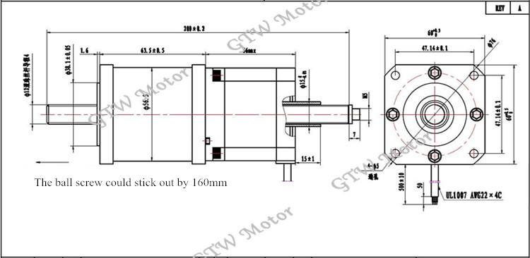 brand new special high performance ball screw stepper