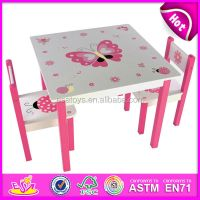 Cheap kids wooden table and chair set,round shape small ...