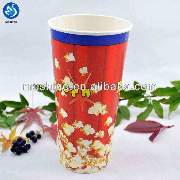 Custom Printed Paper Popcorn Cup Bucket