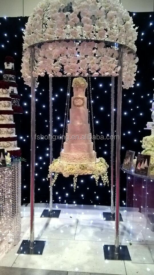 2016 Hot Sale Hanging Wedding Cake Stand View Cake Stand