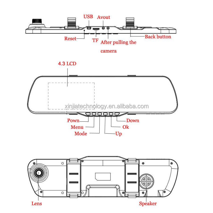 Newest Novatek Nt96655 Dual Camera Car Dvr H.264 Full Hd