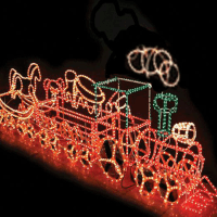 3d Outdoor Lighted Metal Rope Light Christmas Decoration ...