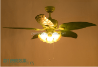 Romantic Decorative Green Apple Ceiling Fans 48inch