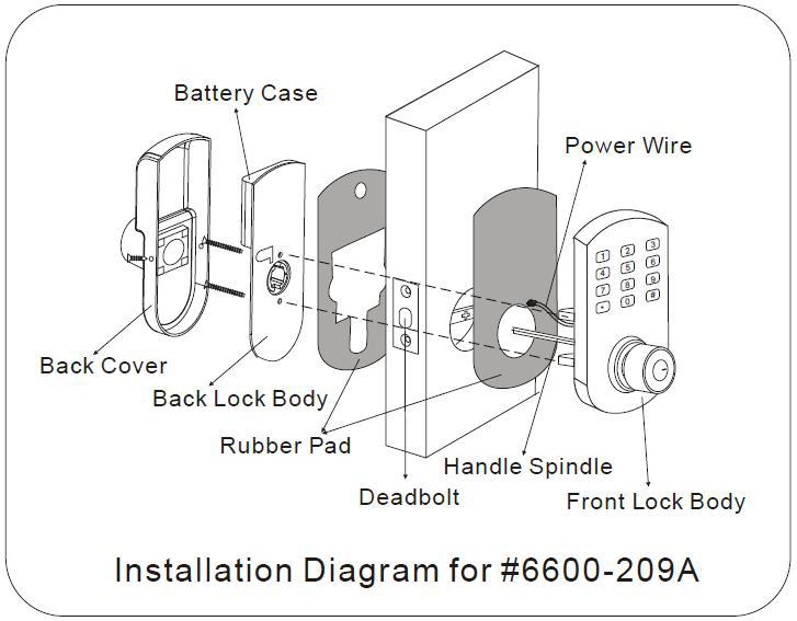 6600-209a Electronic Gym Digital Code Locker Door Lock