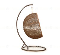 Rattan Furniture Egg Shaped Wicker Hanging Swing Chair ...