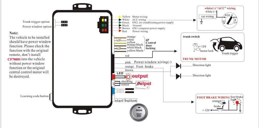 Car Smart Smart Key System With Engine Push Button Start
