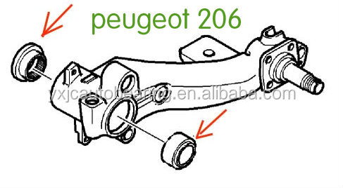Db70216,5132.72/ Ne70214,5131.a6 Peugeot 206 Rear Axle