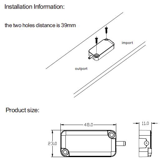Blue Light Indicator 12v Pir Sensor Switch For Led Light