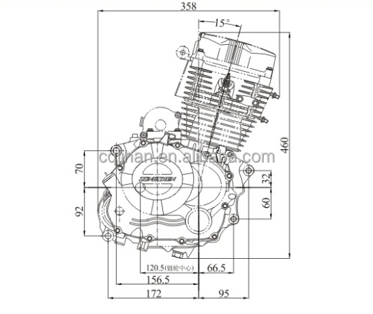 Cg139 Motorcycle Zongshen 156fmi Engine For Different Road