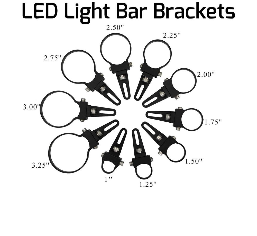 Billet Aluminum Led Light Bar Tube Clamp Adjustable