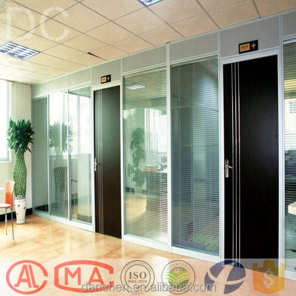 Office Desk Partition Designs Half Glass Wall High