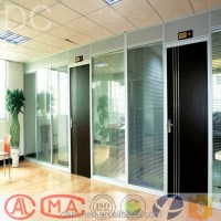 Office Desk Partition Designs Half Glass Wall High ...