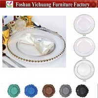 Wholesale Tableware Dining Clear Bead Glass Plates Yc239 ...