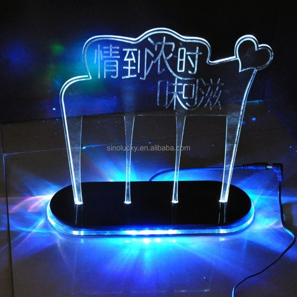 Acrylic Light Box Display Stand Led