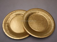 Disposable Golden Silver Rectangle Round Paper Plate For ...