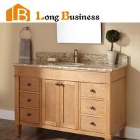 LB-LX2004 Solid wood double sink bathroom vanity ...
