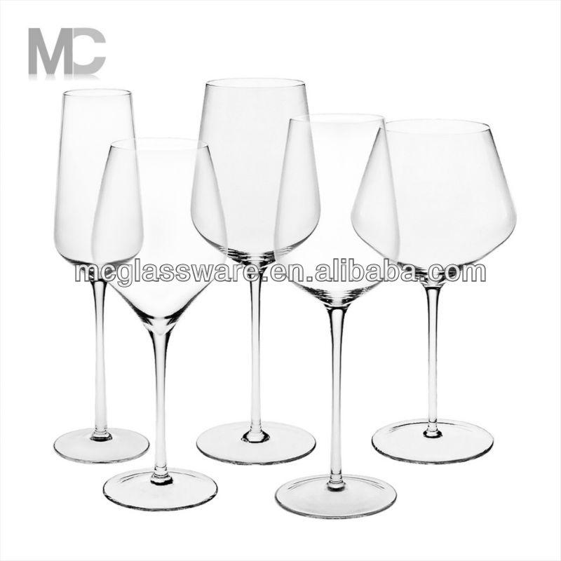 Wholesale Handmade Long Stem Unique Crystal Wine Glass