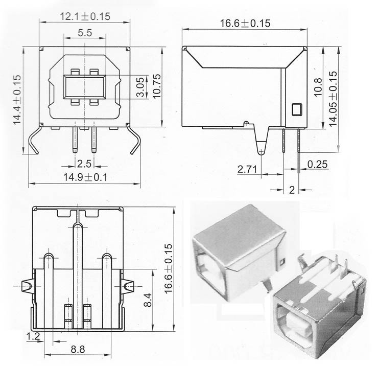 Usb B Type Connector 90 Degree,Usb Connector Types Chart