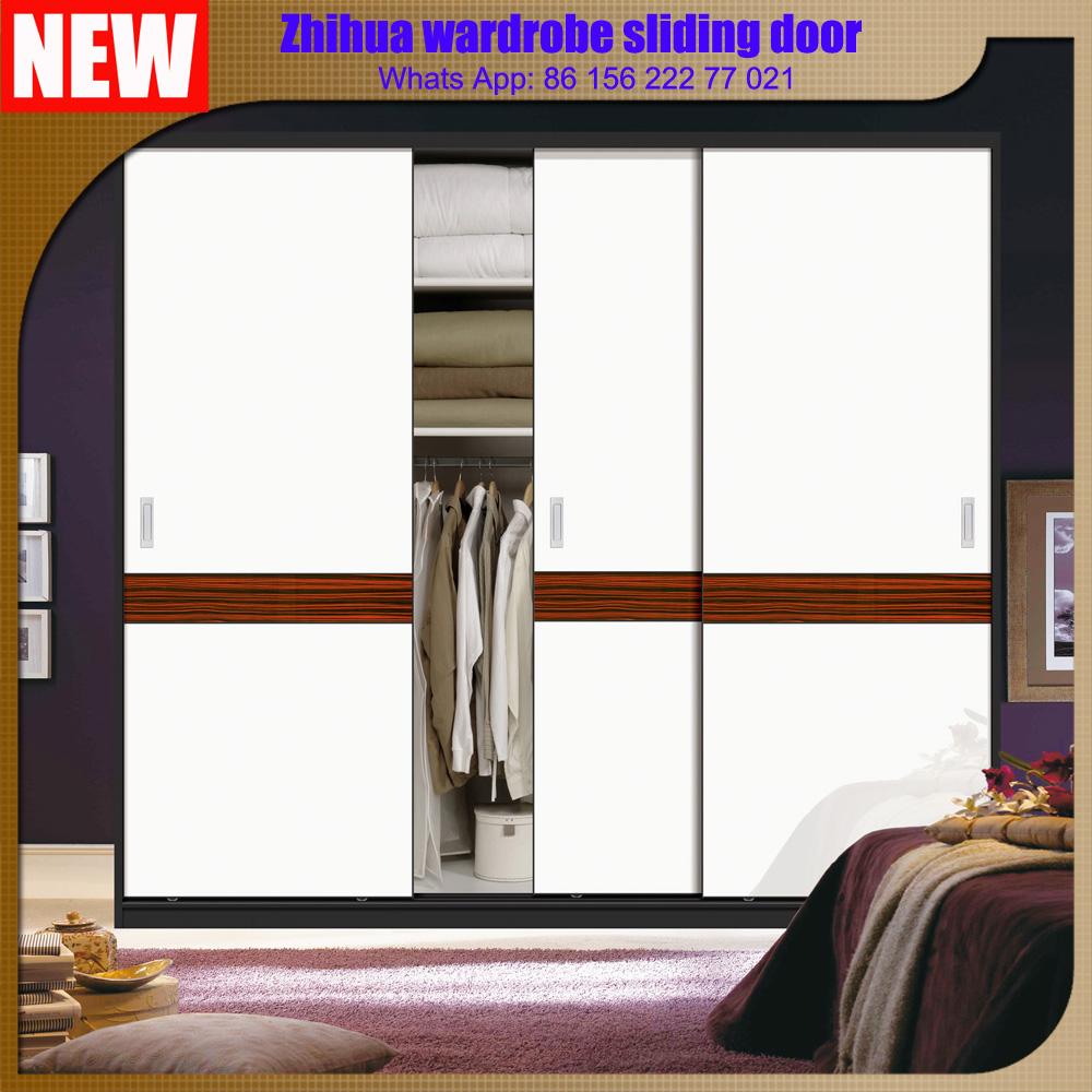 Bedroom Wardrobe Closet Aluminum Frame Mirror Sliding Door