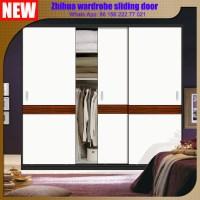Bedroom Wardrobe Closet Aluminum Frame Mirror Sliding Door ...