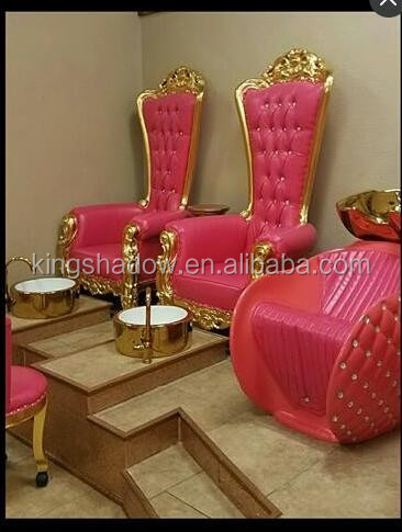 styling chairs for sale cheap rattan effect garden uk kingshadow luxury throne spa pedicure hot pink salon - buy foot ...