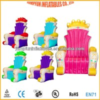 Inflatable Queen Chair And King Inflatable Throne For Take ...