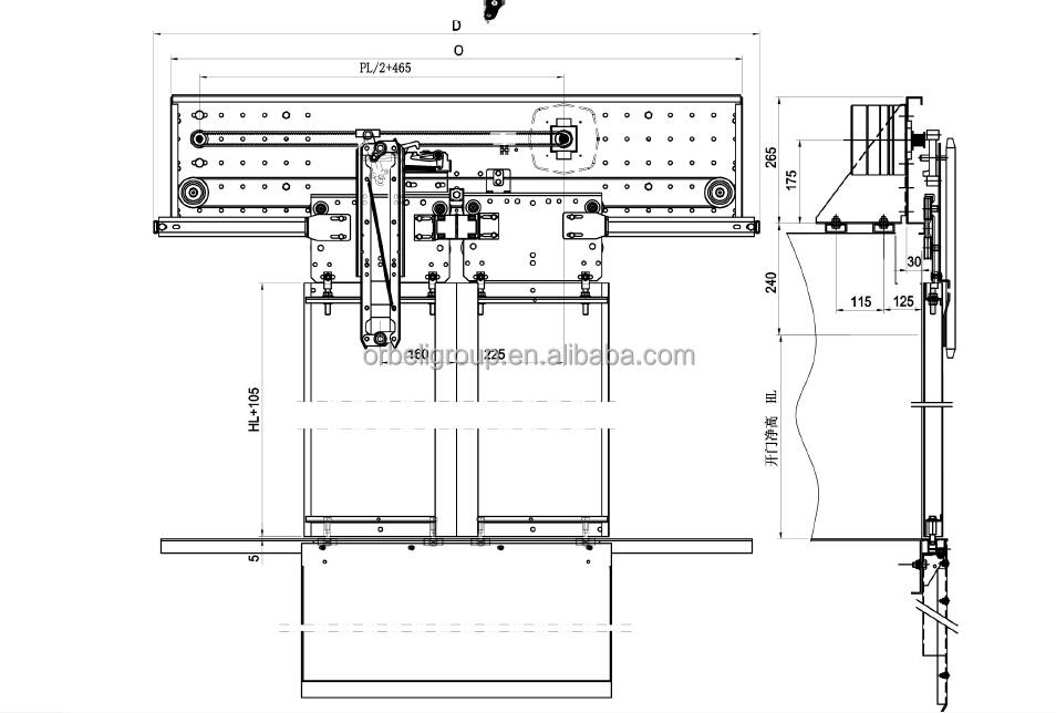 Porta Fermator VVVF sistema operacional/operador Da Porta
