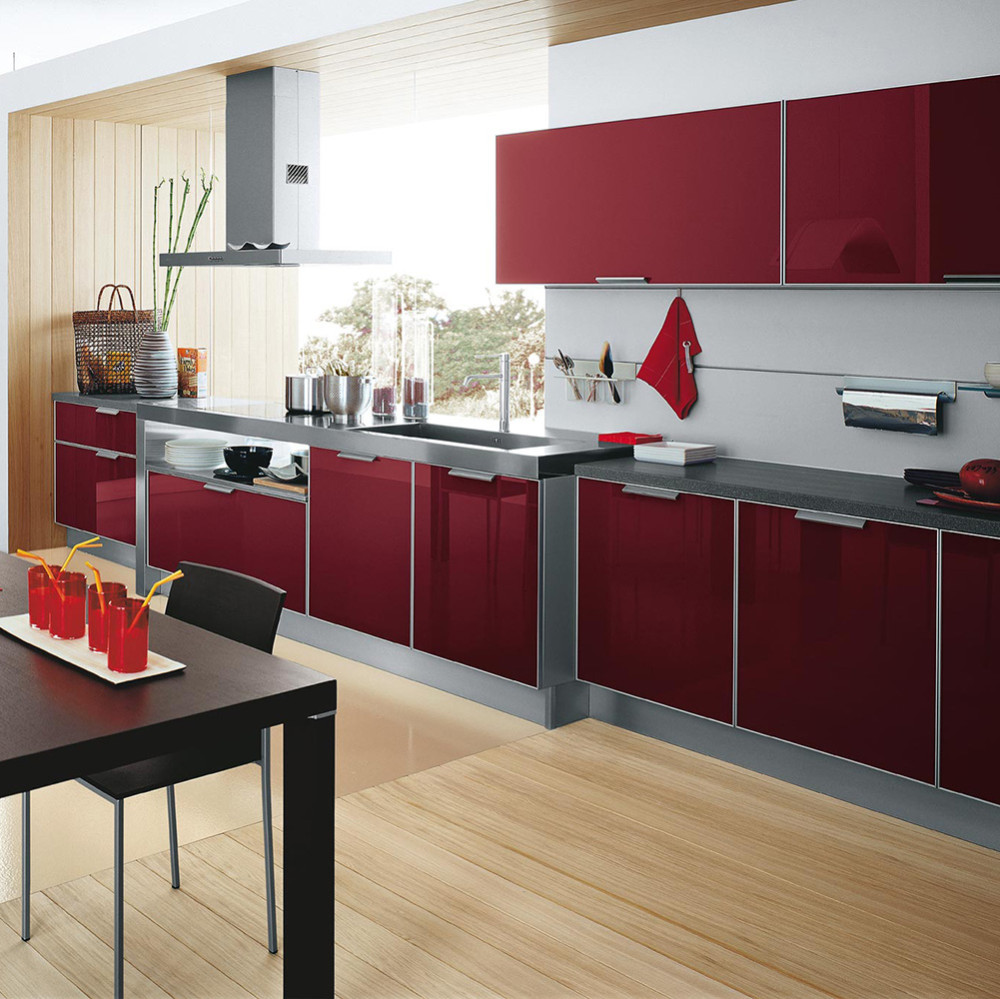 High Gloss Red Uv Kitchen Cabinet Doors Buy Uv Kitchen Cabinet
