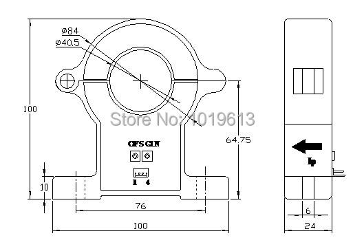 C3 DC/AC current sensor, Hall effect current transducer