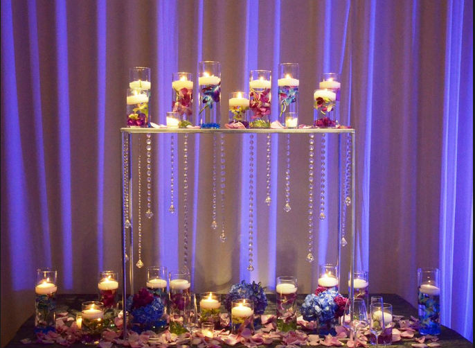 Ct75 Wholesale Acrylic Crystal Wedding Centerpiece For
