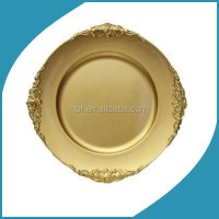 Cheap Wholesale Plastic Disposable Gold Wedding Charger ...