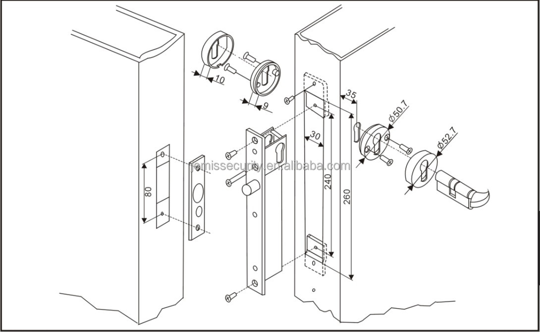 Electric Dead Bolt Lock For Access Control System,Electric