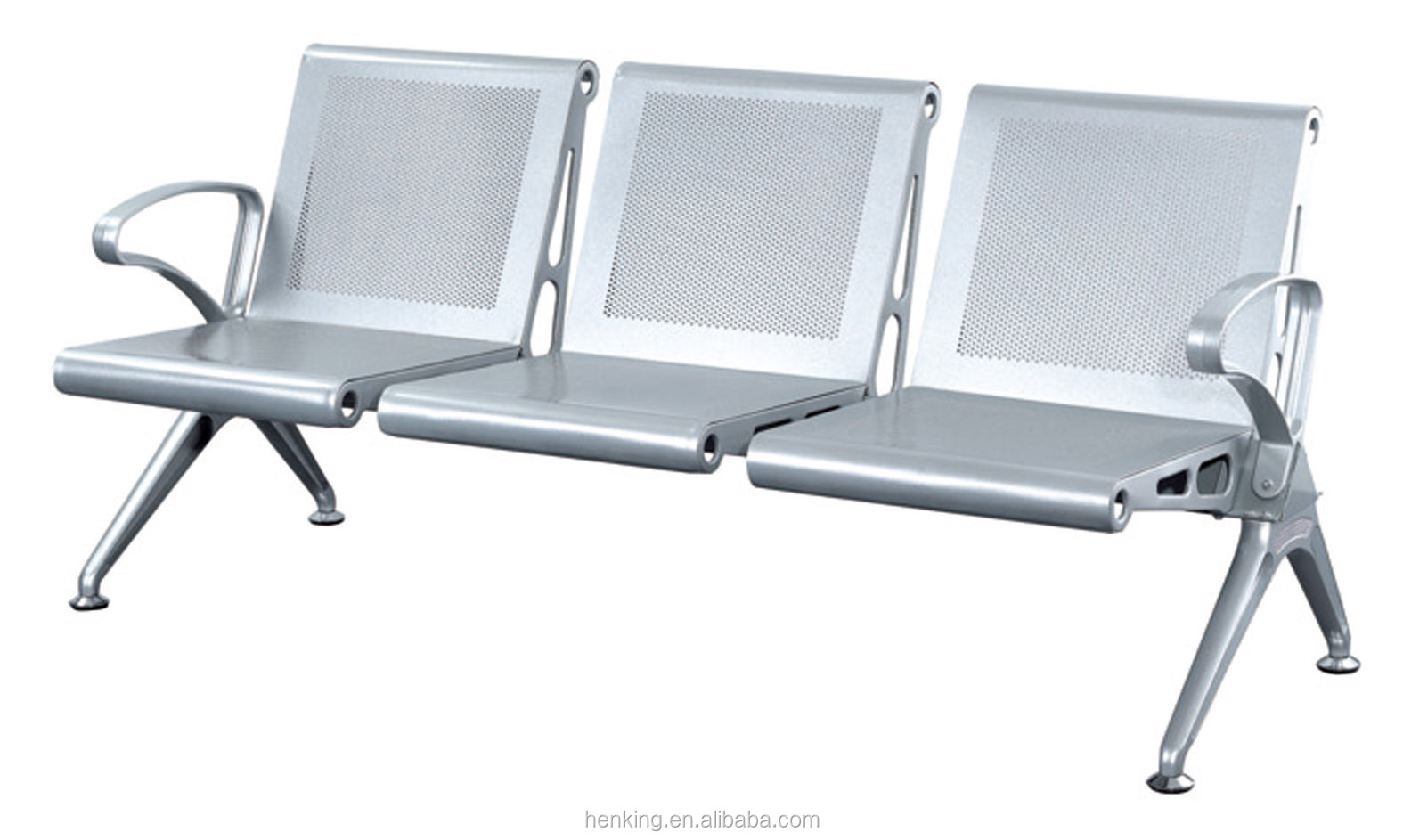 steel airport chair leather and ottoman set henking public metal seating bench chairs h916 3p