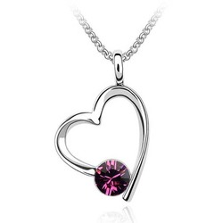 Wholesale Free shipping gift heart shaped Swarovski