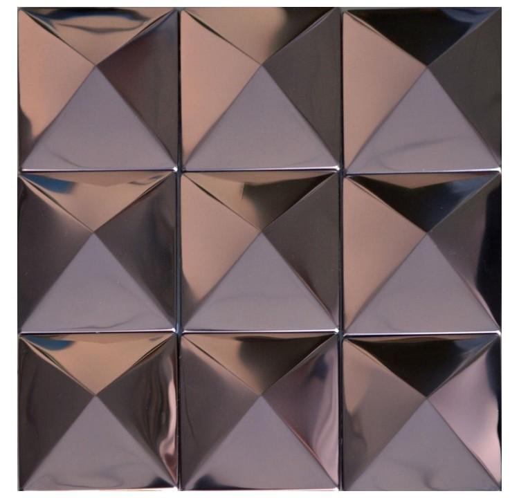 ᐅLila farbe pyramide muster edelstahl metall mosaik-fliesen für ...