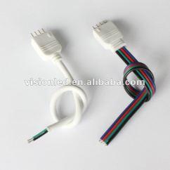 5050 Led Strip Wiring Diagram Klaxon Sonos Rgb Connector Wire 4 Pin Buy