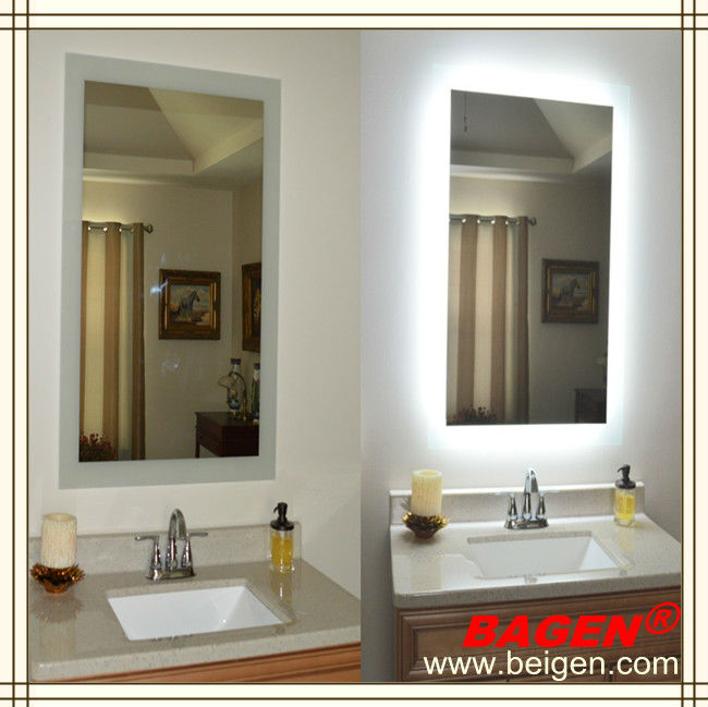 Top quality bathroom framed lighted mirror16years supply for hotels View lighted mirror BAGEN