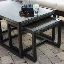 Unique Patio Furniture With Nesting Accent Pull Tables